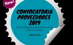 Convocatoria proveedores 2019