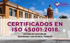 EL HOSPITAL MENTAL PERPETUO SOCORRO RECIBE POR PARTE DE ICONTEC CERTIFICACIÓN ISO 45001:2018